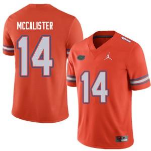 Jordan Brand Men #14 Alex McCalister Florida Gators College Football Jerseys Orange 403372-872