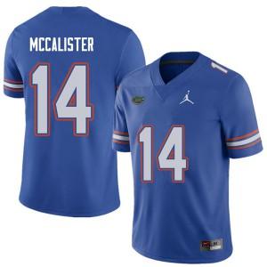 Jordan Brand Men #14 Alex McCalister Florida Gators College Football Jerseys Royal 764144-639