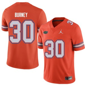 Jordan Brand Men #30 Amari Burney Florida Gators College Football Jerseys Orange 597997-869