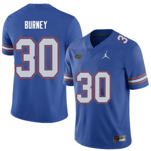 Jordan Brand Men #30 Amari Burney Florida Gators College Football Jerseys Royal 439894-679