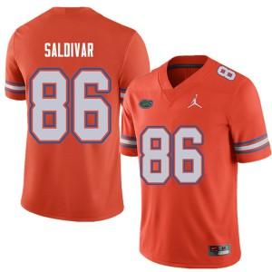 Jordan Brand Men #86 Andres Saldivar Florida Gators College Football Jerseys Orange 301434-114