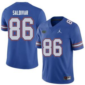 Jordan Brand Men #86 Andres Saldivar Florida Gators College Football Jerseys Royal 810948-617