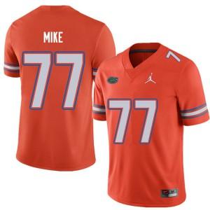 Jordan Brand Men #77 Andrew Mike Florida Gators College Football Jerseys Orange 789699-148