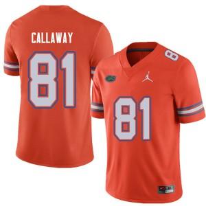 Jordan Brand Men #81 Antonio Callaway Florida Gators College Football Jerseys Orange 644127-219