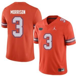Jordan Brand Men #3 Antonio Morrison Florida Gators College Football Jerseys Orange 251381-784