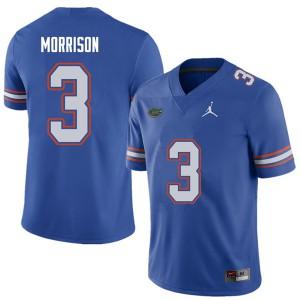 Jordan Brand Men #3 Antonio Morrison Florida Gators College Football Jerseys Royal 880652-926