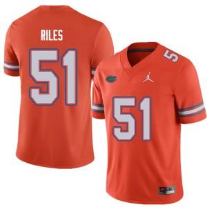 Jordan Brand Men #51 Antonio Riles Florida Gators College Football Jerseys Orange 536946-814