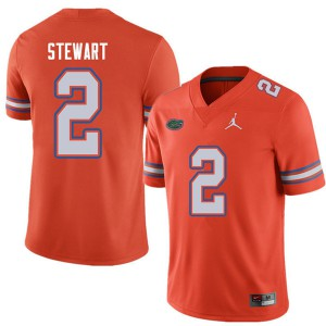 Jordan Brand Men #2 Brad Stewart Florida Gators College Football Jerseys Orange 680472-344