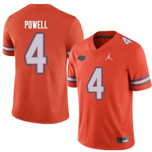 Jordan Brand Men #4 Brandon Powell Florida Gators College Football Jerseys Orange 466650-357