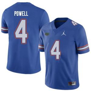 Jordan Brand Men #4 Brandon Powell Florida Gators College Football Jerseys Royal 634578-743