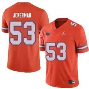 Jordan Brand Men #53 Brendan Ackerman Florida Gators College Football Jerseys Orange 556661-754
