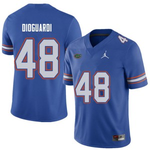 Jordan Brand Men #48 Brett DioGuardi Florida Gators College Football Jerseys Royal 221862-859