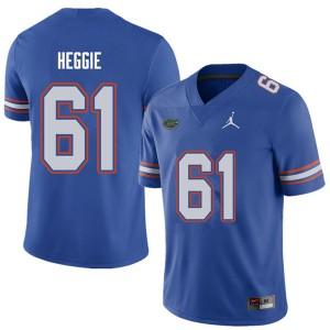Jordan Brand Men #61 Brett Heggie Florida Gators College Football Jerseys Royal 930331-669