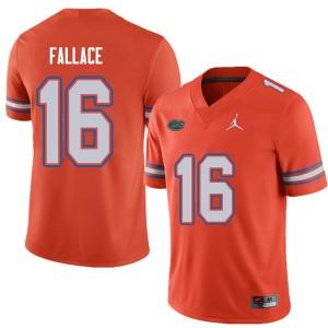 Jordan Brand Men #16 Brian Fallace Florida Gators College Football Jerseys Orange 481339-508