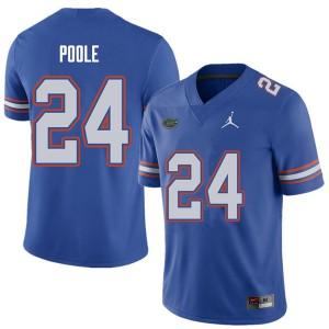 Jordan Brand Men #24 Brian Poole Florida Gators College Football Jerseys Royal 662820-970