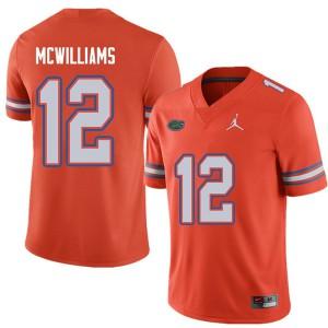 Jordan Brand Men #12 C.J. McWilliams Florida Gators College Football Jerseys Orange 616674-375