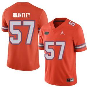 Jordan Brand Men #57 Caleb Brantley Florida Gators College Football Jerseys Orange 212728-885