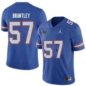 Jordan Brand Men #57 Caleb Brantley Florida Gators College Football Jerseys Royal 684116-564