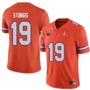 Jordan Brand Men #19 Caleb Sturgis Florida Gators College Football Jerseys Orange 257235-398