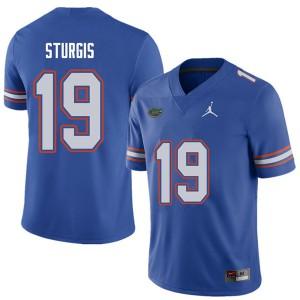 Jordan Brand Men #19 Caleb Sturgis Florida Gators College Football Jerseys Royal 515388-582