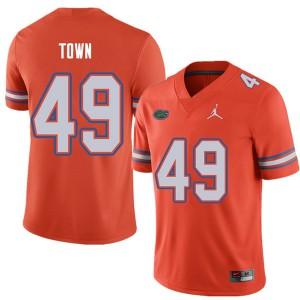 Jordan Brand Men #49 Cameron Town Florida Gators College Football Jerseys Orange 160665-401