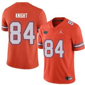 Jordan Brand Men #84 Camrin Knight Florida Gators College Football Jerseys Orange 831481-264