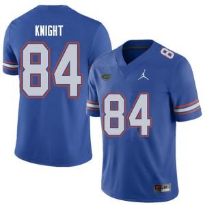 Jordan Brand Men #84 Camrin Knight Florida Gators College Football Jerseys Royal 685594-622