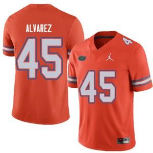 Jordan Brand Men #45 Carlos Alvarez Florida Gators College Football Jerseys Orange 934317-453