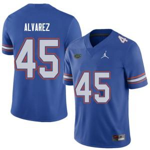 Jordan Brand Men #45 Carlos Alvarez Florida Gators College Football Jerseys Royal 857067-825