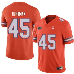 Jordan Brand Men #45 Charles Nordman Florida Gators College Football Jerseys Orange 497731-989