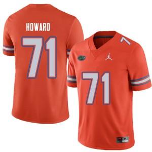 Jordan Brand Men #71 Chris Howard Florida Gators College Football Jerseys Orange 554092-256