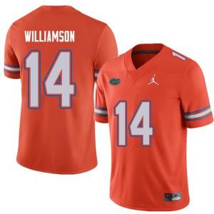Jordan Brand Men #14 Chris Williamson Florida Gators College Football Jerseys Orange 439953-297