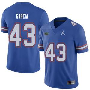 Jordan Brand Men #43 Cristian Garcia Florida Gators College Football Jerseys Royal 126666-778
