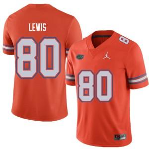 Jordan Brand Men #80 C'yontai Lewis Florida Gators College Football Jerseys Orange 550279-480
