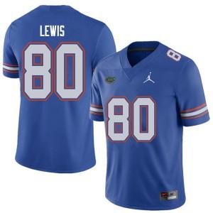 Jordan Brand Men #80 C'yontai Lewis Florida Gators College Football Jerseys Royal 734117-637