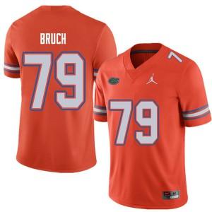 Jordan Brand Men #79 Dallas Bruch Florida Gators College Football Jerseys Orange 578693-111