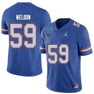 Jordan Brand Men #59 Danny Weldon Florida Gators College Football Jerseys Royal 134294-453