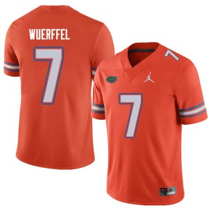 Jordan Brand Men #7 Danny Wuerffel Florida Gators College Football Jerseys Orange 694992-202
