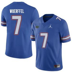 Jordan Brand Men #7 Danny Wuerffel Florida Gators College Football Jerseys Royal 648342-522