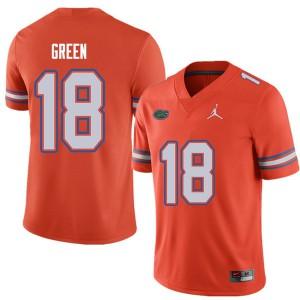 Jordan Brand Men #18 Daquon Green Florida Gators College Football Jerseys Orange 760001-137