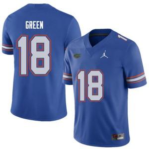 Jordan Brand Men #18 Daquon Green Florida Gators College Football Jerseys Royal 203559-340