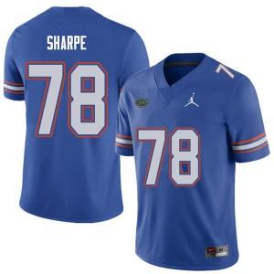 Jordan Brand Men #78 David Sharpe Florida Gators College Football Jerseys Royal 328063-535