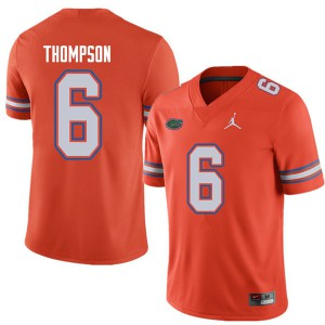 Jordan Brand Men #6 Deonte Thompson Florida Gators College Football Jerseys Orange 448542-352