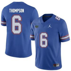 Jordan Brand Men #6 Deonte Thompson Florida Gators College Football Jerseys Royal 574569-435