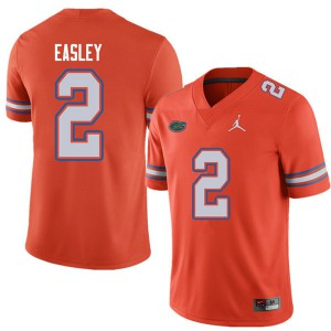 Jordan Brand Men #2 Dominique Easley Florida Gators College Football Jerseys Orange 734905-675