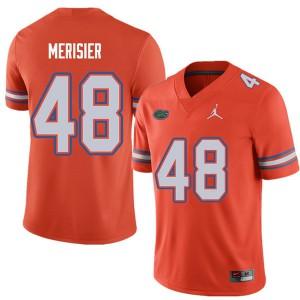 Jordan Brand Men #48 Edwitch Merisier Florida Gators College Football Jerseys Orange 934156-113