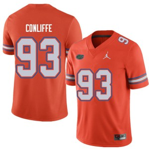 Jordan Brand Men #93 Elijah Conliffe Florida Gators College Football Jerseys Orange 210040-176