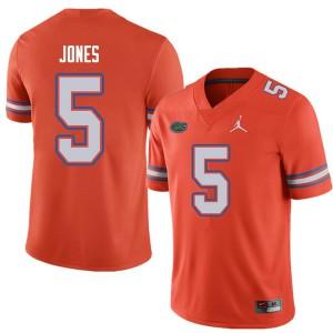 Jordan Brand Men #5 Emory Jones Florida Gators College Football Jerseys Orange 338375-823