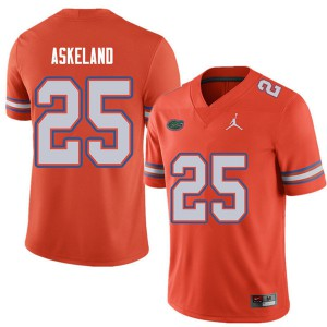 Jordan Brand Men #25 Erik Askeland Florida Gators College Football Jerseys Orange 123142-409