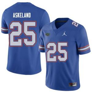 Jordan Brand Men #25 Erik Askeland Florida Gators College Football Jerseys Royal 476053-196